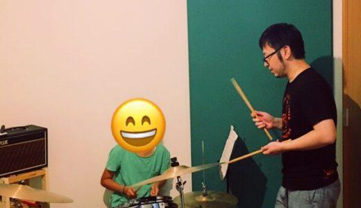 ドラムレッスンスタート! 小学5年生の女の子